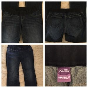Old navy low rise boot cut maternity jeans 8